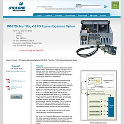 Microsystems - 600-2706: Four Slot, x16 Expansion System