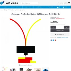 Cyclops - PreOrder Batch 3 (Shipment Q1-2 2015)