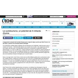 Le cyclotourisme, un potentiel de 4 milliards d'euros