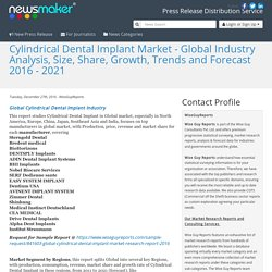 Cylindrical Dental Implant Market - Global Industry Analysis, Size, Share, Growth, Trends and Forecast 2016 - 2021