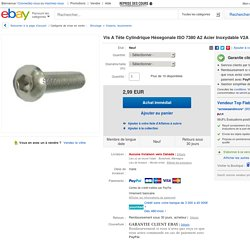 VIS A Tête Cylindrique Héxegonale ISO 7380 A2 Acier Inoxydable V2A M3X4 M3X20