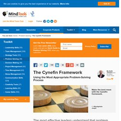 The Cynefin Framework - Problem-Solving Skills From MindTools.com