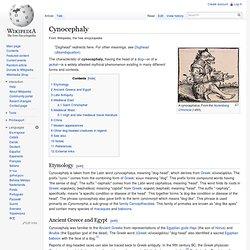 Cynocephaly