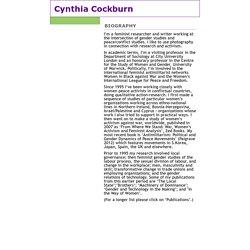 Cynthia Cockburn