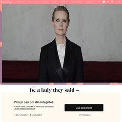 Be a lady med Cynthia Nixon – klippet alla borde se