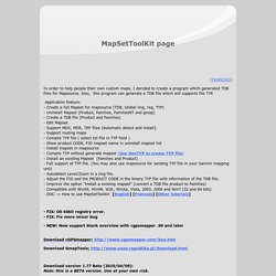MapSetToolKit Page