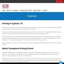 Cypress - Champions Driving School