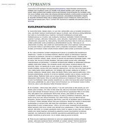 Cyprianus Kuolemantaudista