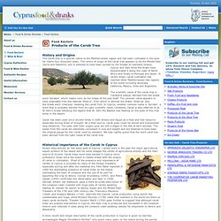Cyprus Food and Drinks - Products of the Carob Tree