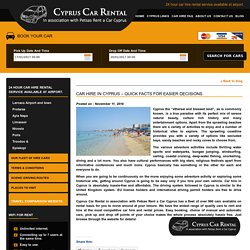 Car Hire in Cyprus - Quick Facts for easier Decisions
