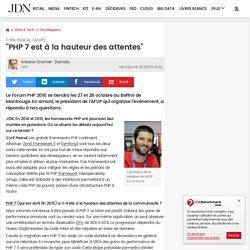 """Cyril Pascal (AFUP):""""PHP 7 est à la hauteur des attentes"""""""