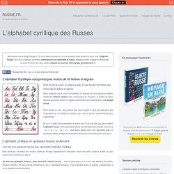 L'alphabet cyrillique des RussesRUSSIE.FR