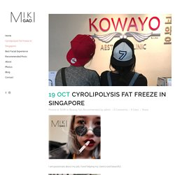 Cyrolipolysis Fat Freeze in Singapore - Face slimming and the most successful acne scar removal tips.