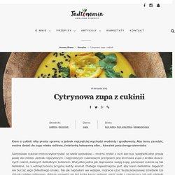Cytrynowa zupa z cukinii