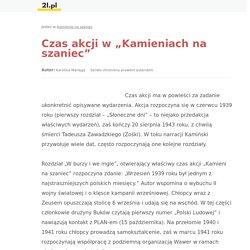 """Czas akcji w """"Kamieniach na szaniec"""" - 2l.pl"""