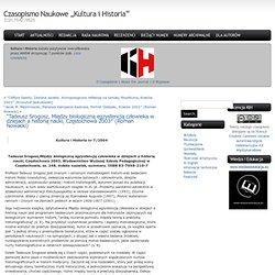 "Czasopismo Naukowe ""Kultura i Historia"" » Blog Archive » Czasopismo ""Kultura i Historia"""