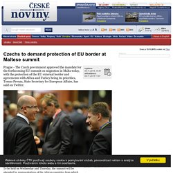 Czechs to demand protection of EU border at Maltese summit