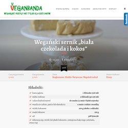 "Wegański sernik ""biała czekolada i kokos"" - VeganbandaVeganbanda"