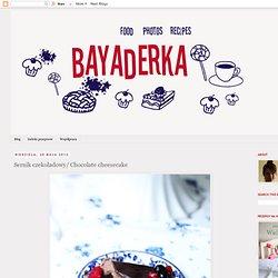 BAYADERKA- food recipes and photos. Blog kulinarny. pomysły na ciasta, desery i inne.: Sernik czekoladowy/ Chocolate cheesecake