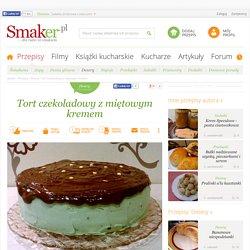 Tort czekoladowy z miętowym kremem - Przepis