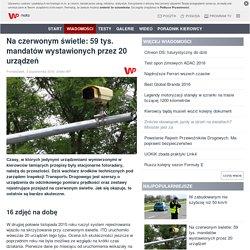 Na czerwonym świetle: 59 tys. mandatów wystawionych przez 20 urządzeń - Grupa Wirtualna Polska