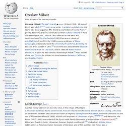Czesław Miłosz
