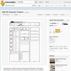 D&D 5E Character Creation