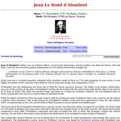 D'Alembert biography