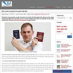 Dịch vụ làm song tịch cho người Việt Kiều