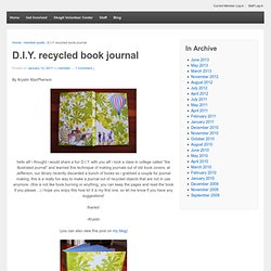 D.I.Y. recycled book journal |