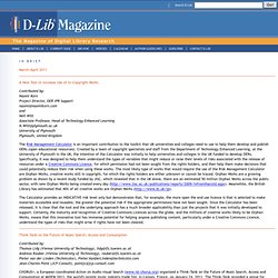 D-Lib Magazine In Brief and In the News