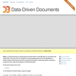 D3.js - Data-Driven Documents