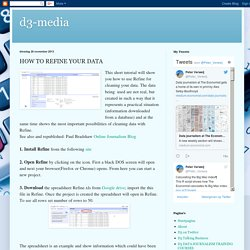 d3-media: HOW TO REFINE YOUR DATA