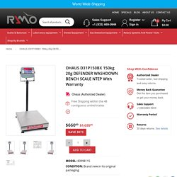 OHAUS D31P150BX 150kg 20g DEFENDER WASHDOWN BENCH SCALE NTEP With Warr