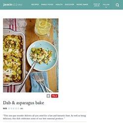 Dab & asparagus bake