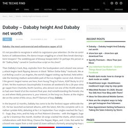 Dababy - Dababy height And Dababy net worth