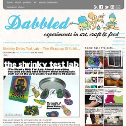 Shrinky Dinks Test Lab – The Wrap-up Of It All…