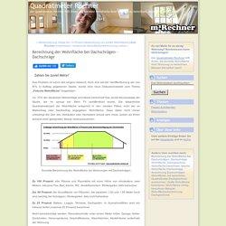 Berechnung der Wohnfläche bei Dachschrägen - Dachschräge (Quadratmeter Rechner)