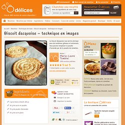 Biscuit dacquoise - technique en images