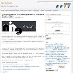 OCR scannez vos document et faites les dactylographier automatiq