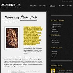Dada aux États-Unis