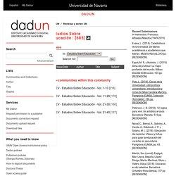 DADUN: Estudios Sobre Educación