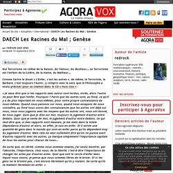 DAECH Les Racines du Mal ; Genèse - AgoraVox le média citoyen