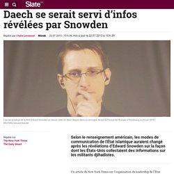 Daech se serait servi d'infos révélées par Snowden