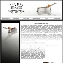Daed Toolworks miter planes