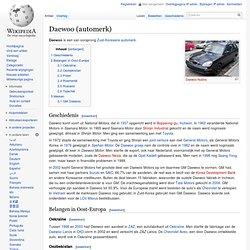 Daewoo 1937-2002