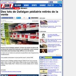Des lots de Dafalgan pédiatrie retirés de la vente