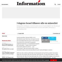 I dagens Israel tilhører alle en minoritet
