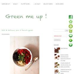 Dahl de betterave, poire et graines germées de soja