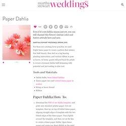 Paper Dahlia